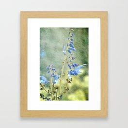 Powder Blue Framed Art Print
