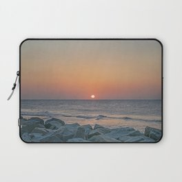 Sunrise at the Battery Seawall Fort Fisher NC Laptop Sleeve
