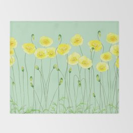 Yellow Wildflowers II Throw Blanket