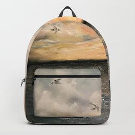 Birds on the ocean Backpack
