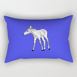 Somali Wild Ass foal - blue Rectangular Pillow
