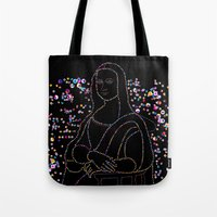 mona lisa Tote Bags featuring Mona Lisa by Ornaart