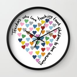 Hearts Heart Teacher Wall Clock