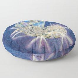 Blue Diamond Floor Pillow