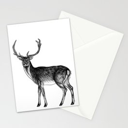 Fallow deer stag - ink illustration Stationery Cards