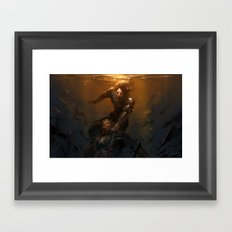 The Light Before We Land Framed Art Print