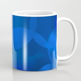 Abstract soap of blue molecules and blue bubbles on a marine background. Coffee Mug