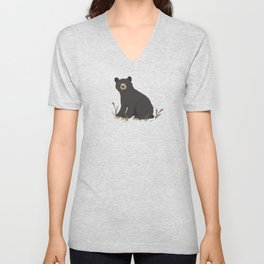 Black Bear Unisex V-Neck