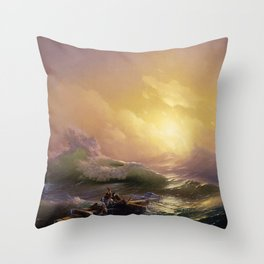 The Ninth Wave - Aivazovsky Throw Pillow