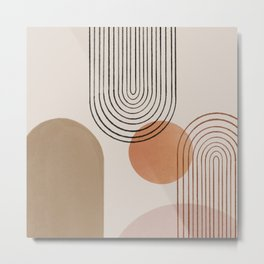 Abstraction crescent moon geometric Metal Print