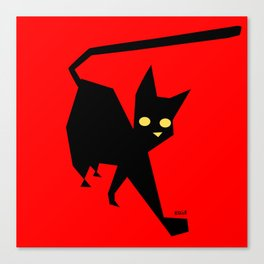 The Strut (Black Cat) Canvas Print
