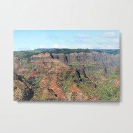 Waimea Canyon Defined Metal Print