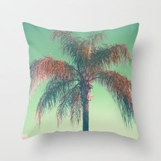 Red palm tree Throw Pillow