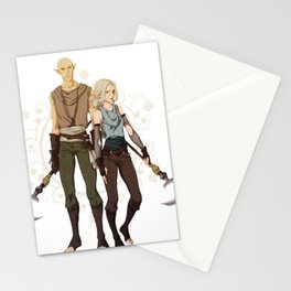 Elven mages Stationery Cards