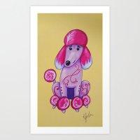 poodle Art Prints featuring poodle by K.ForstnerArt