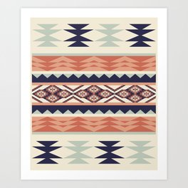 Native American Geometric Pattern Art Print