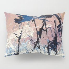 Abstract Flowers Blue Purple Field Lavender Landscape by Jodi Tomer Pillow Sham