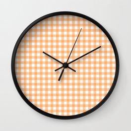 Sherbet Gingham Wall Clock