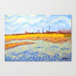 View of John Heinz Nature Reserve Pond Canvas Print