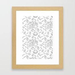 HIPHOP PATTERN Framed Art Print