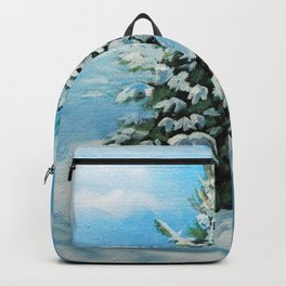The Day After Snow Scene Art Backpack