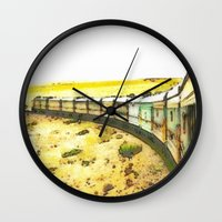 train Wall Clocks featuring Train by Mr and Mrs Quirynen