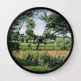 Camille Pissarro - Morning Sunlight Effect, Eragny Wall Clock
