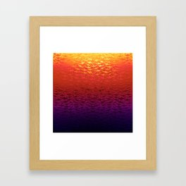 Sharks At Sunset Framed Art Print