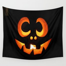 Vector Image of Friendly Halloween Pumpkin Wall Tapestry
