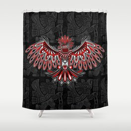 Eagle Tattoo Style Haida Art Shower Curtain