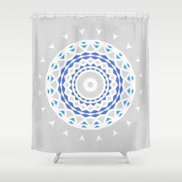 Radial Geometry Shower Curtain