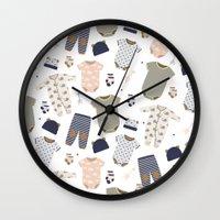 baby Wall Clocks featuring baby by Ceren Aksu Dikenci
