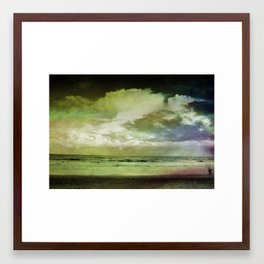 Occupy Beach Framed Art Print