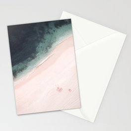 Beach Love Vlll aerial photography by Ingrid Beddoes Stationery Cards
