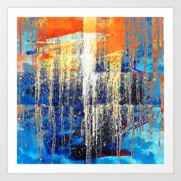 Golden Dawn, Abstract Landscape Art Art Print