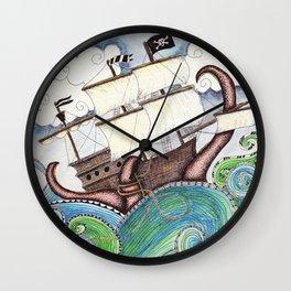 Pirate Peril Wall Clock