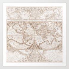 Terra in Tan Art Print