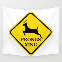 marauders Wall Tapestries featuring prongs xing by Nissa Avery