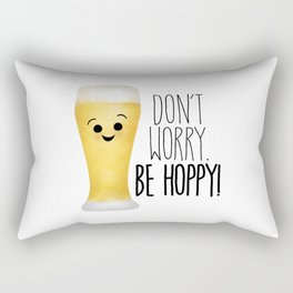 Beer | Don't Worry Be Hoppy Rectangular Pillow