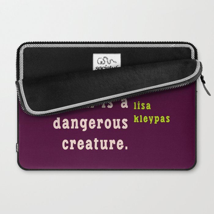 A well read woman is a dangerous creature Laptop Sleeve