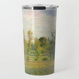 """Camille Pissarro """"Le pré à Éragny, été, soleil, fin d'après-midi"""" Travel Mug"""