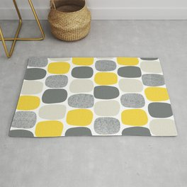 Wonky Ovals in Yellow Rug