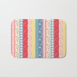 Happy patchwork stripe Bath Mat