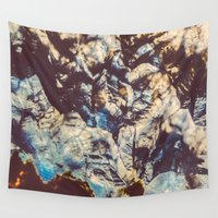 agate Wall Tapestries featuring Agate Crystals  by Elena Kulikova