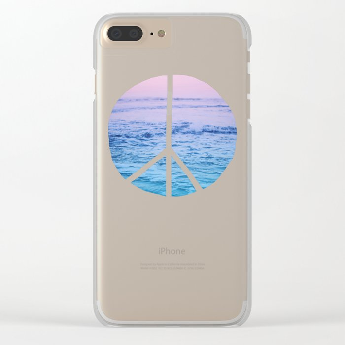 Waves & Peace Clear iPhone Case