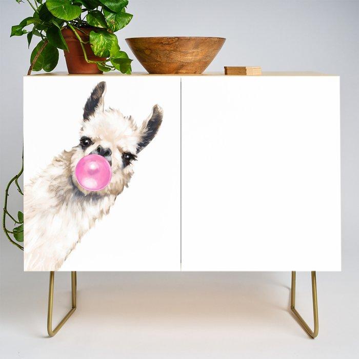 Bubble Gum Sneaky Llama Credenza