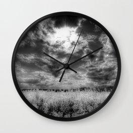 Heavenly Monochrome Wall Clock