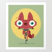 bicycle Art Prints featuring Bicycle by Maria Jose Da Luz