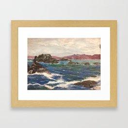 motion of the sea Framed Art Print