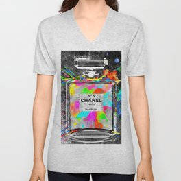 No 5 Rainbow Colors Unisex V-Neck